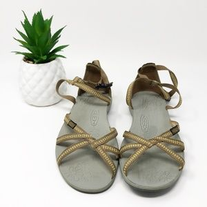 Keen Strappy Suede Back Sandals Brown 8.5